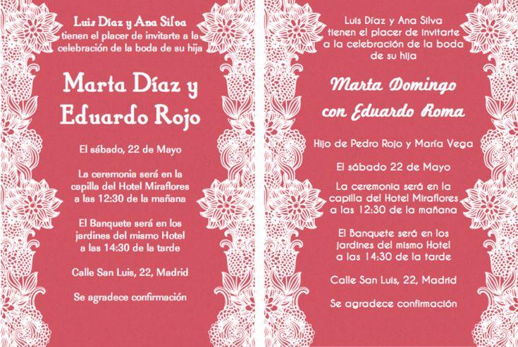 spanish wedding invitation wording | wedding ideas | pinterest, Wedding invitations