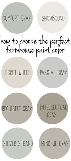 How to choose the perfect farmhouse style paint color.
