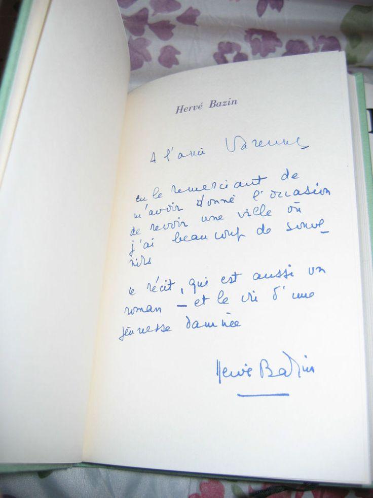 Vipère au Poing  Hervé Bazin avec Bel ENVOI  Ed Club avec album photos 1/150