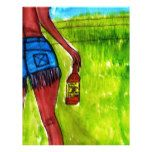 Woman with Bottle of Whiskey Letterhead