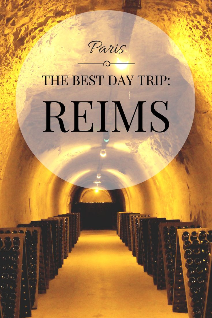 A day trip you must add to your Paris Itinerary! Reims, only an hour outside Paris, is full of Champagne Houses that you can tour!