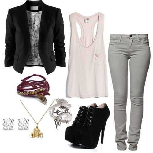 Perfect edgy outfit for a date night! | clothes ...