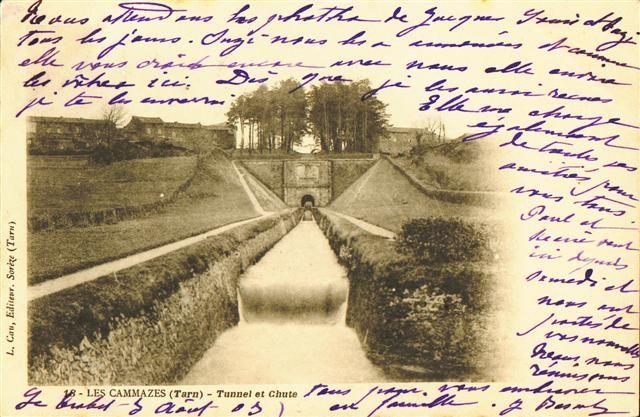 Le Canal du Midi en Languedoc : Cartes postales anciennes : Les Cammazes