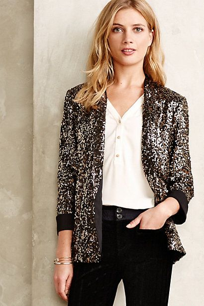 Sequined Blazer - anthropologie.com #anthrofave
