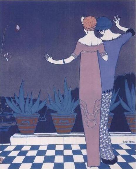 Poiretlepape - Georges Lepape — Gravure de mode parue dans Les Choses de Paul Poiret en 1911.