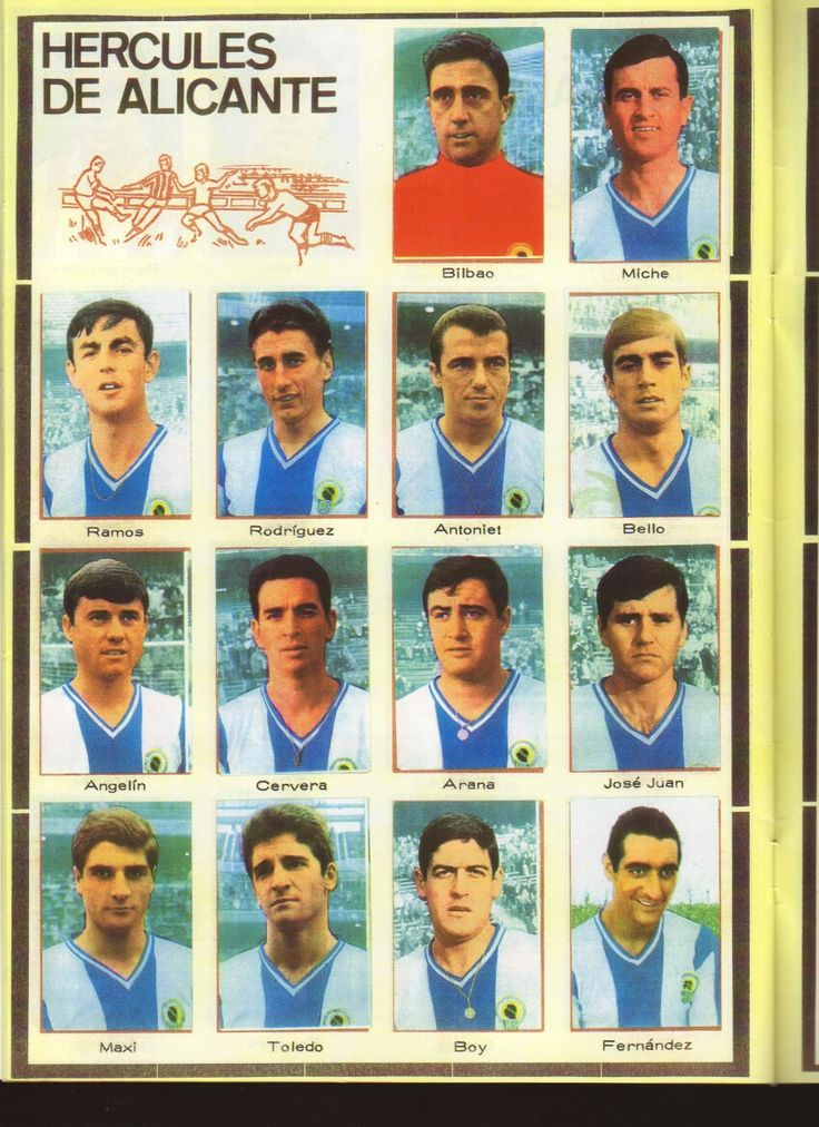 Hercules Alicante of Spain team stickers for 1968-69.
