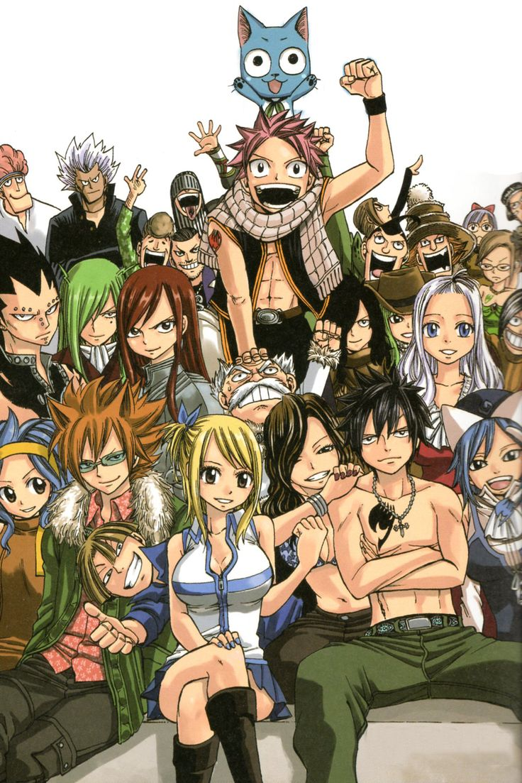 Fairy Tail  Un manga con dibujos y coloreados geniales