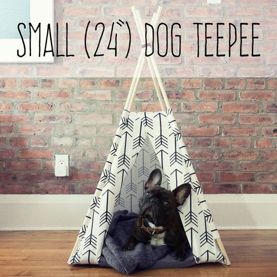 CUSTOM SMALL Dog Teepee Cat Teepee Dog Tent by WoolyDoodleApparel