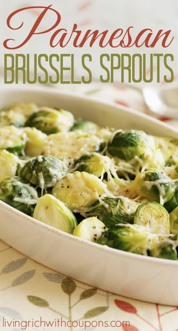 Parmesan Brussels Sprouts recipe. Delicious Thanksgiving Side!