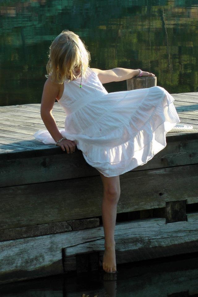 Fairy dipping toe.