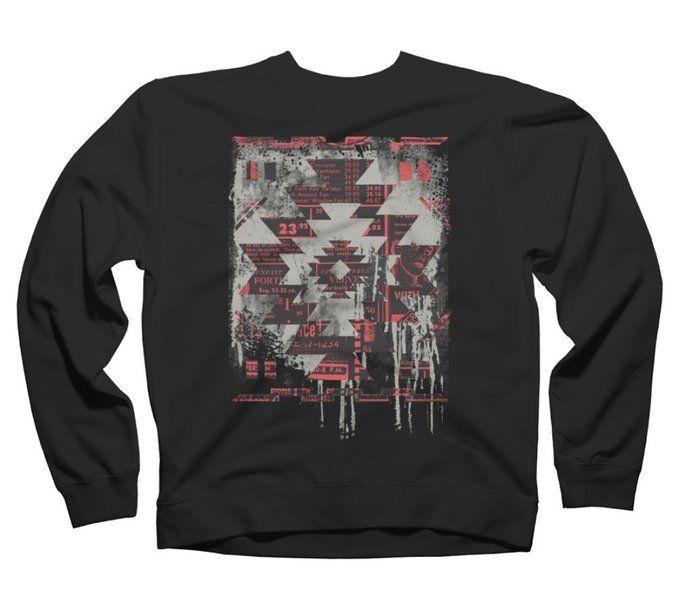 Aztec Modern Men's Graphic Crew Sweatshirt - Design By Humans