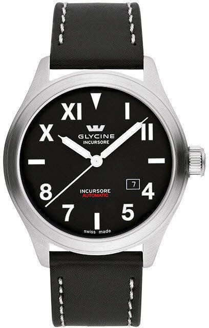 Glycine Watch Incursore III 44mm Automatic #bezel-fixed #bracelet-strap-leather #brand-glycine #case-depth-9-95mm #case-material-steel #case-width-44mm #date-yes #delivery-timescale-4-7-days #dial-colour-black #gender-mens #luxury #movement-automatic #official-stockist-for-glycine-watches #packaging-glycine-watch-packaging #style-dress #subcat-incursore #supplier-model-no-3922-19l-lb9b #warranty-glycine-official-2-year-guarantee #water-resistant-100m