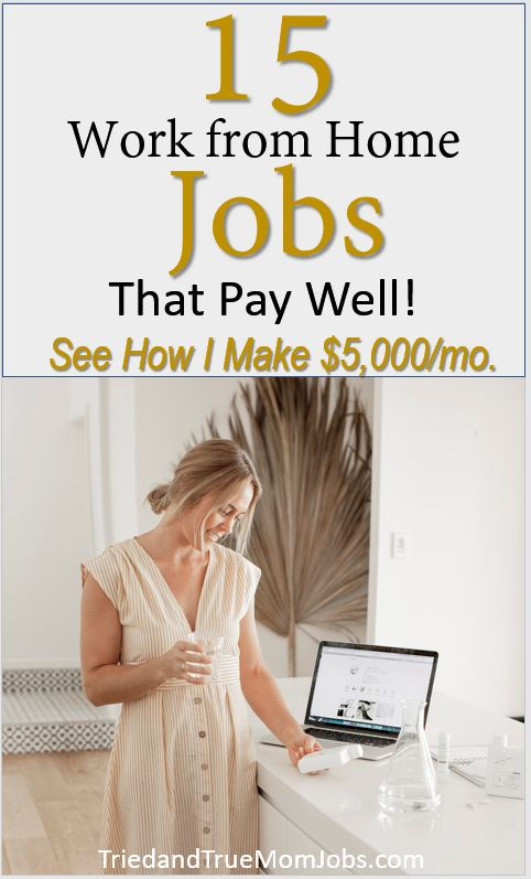 15 Work From Home Jobs that Pay Well
