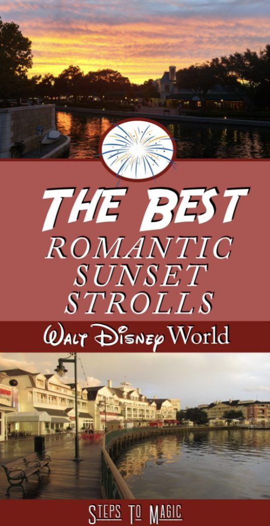 "Romance is alive and well at Walt Disney World, but you don't have to spend a lot of money to enjoy the company of your significant other. In fact, there are a number of great spots to ""get away from it all"" and take a good ol' fashioned romantic Sunset Stroll! Here are my favorite …"