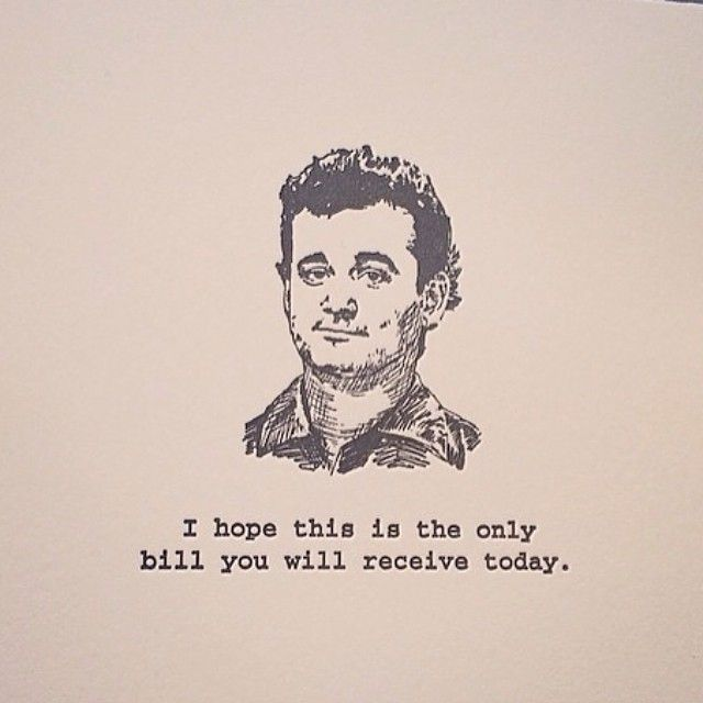 833 best Bill Murray images – Bill Murray Birthday Card