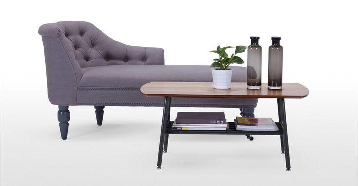 Haywood Coffee Table, Walnut and Black | made.com