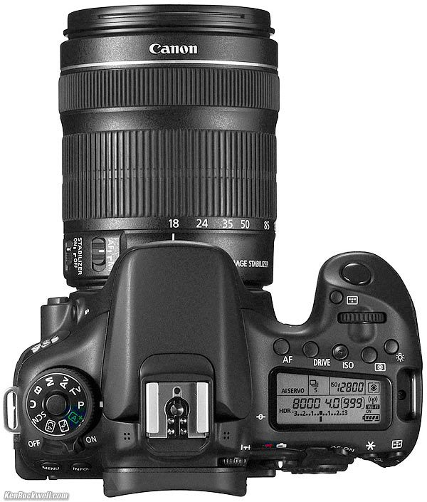 Top, Canon 70D Ken Rockwell.com reviews this camera