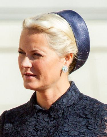 Crown Princess Mette-Marit, September 2, 2014 in Mona Strand | Royal Hats.....Norwegian Royals Host Estonian State Visit....Posted on September 2, 2014 by HatQueen.....