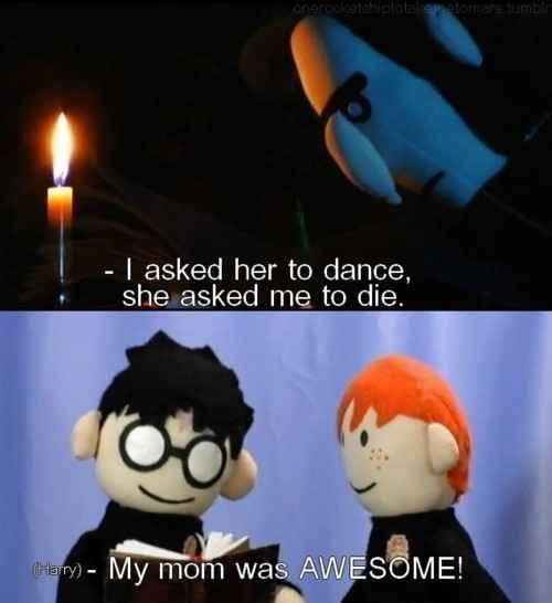 Harry Potter Funny<< Are we sure that wasn't James Potter with Polyjuice potion? also, I love this way too much.