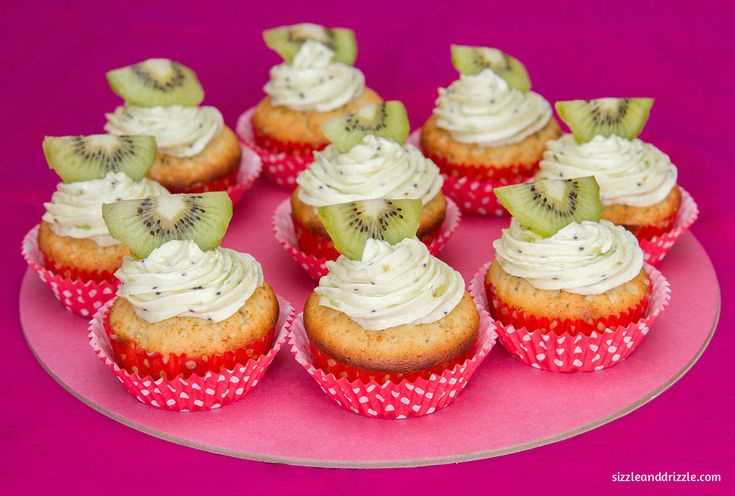 Those three months and Kiwi Cupcakes with frosting