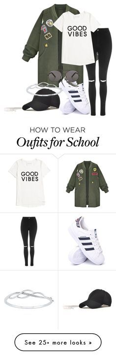 """""""2. Cool for School"""" by srybuttnotsry on Polyvore featuring WithChic, Topshop, adidas, Tommy Hilfiger and Seafolly"""