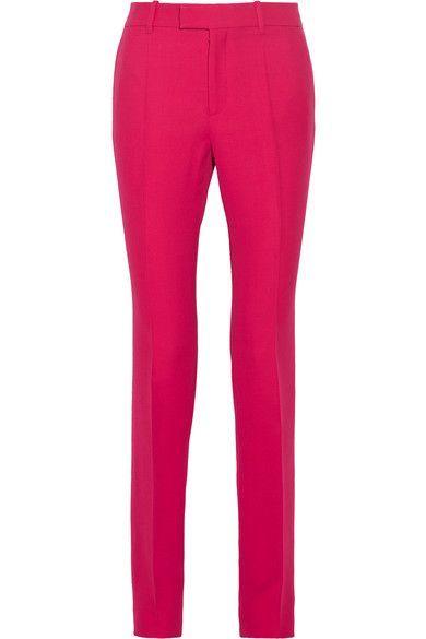 Gucci | Wool and silk-blend crepe straight-leg pants | NET-A-PORTER.COM