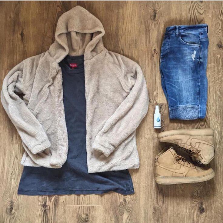 Premium Fleeced Sherpa Hoodie  ❌✖️️❌✖️️  longline, men's, streetwear, clothing, online shopping, outfit grid, flatlay, street style, true outfit, culture kings, wdywt, minimal movement,