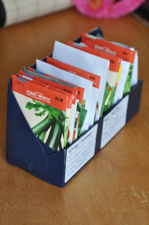 How I store my seeds. blog tutorial about a unique new way to garden with lots of pictures and how to. ~Mel @ RaisedUrbanGardens
