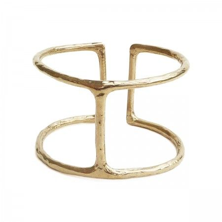 Open manchette cuff. Made in italy with brass. Nickel Free.
