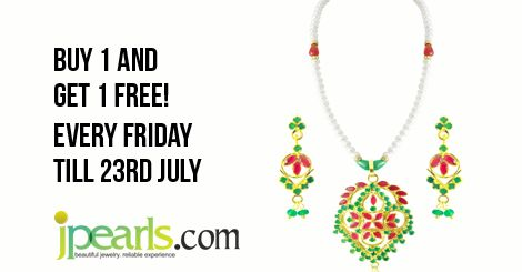 Hurry!! Jpearls is running offers in pearls! Pick your favourite set at favourable prices! check our collection at www.jpearls.com