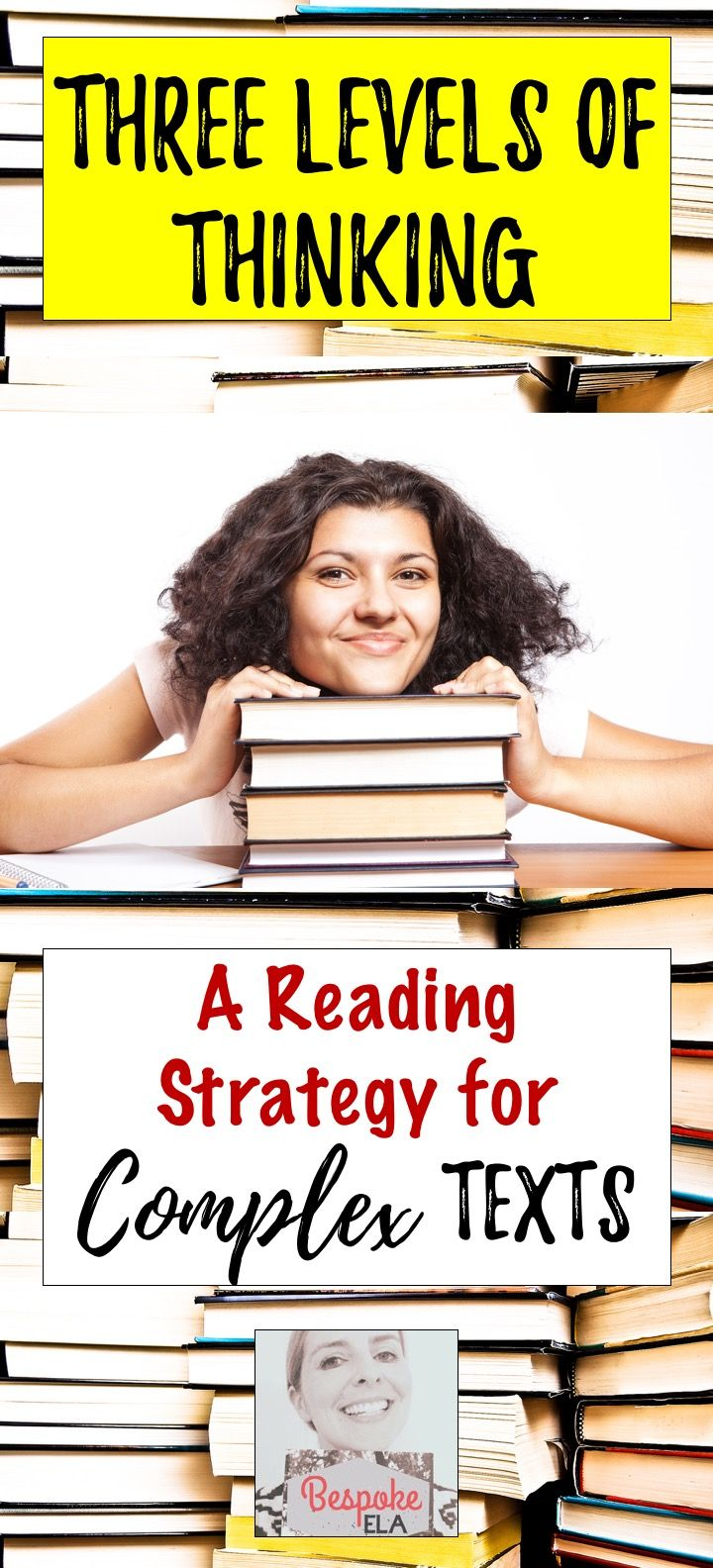 This blog article by Bespoke ELA discusses a reading strategy for helping students comprehend complex texts. The Three Levels of Thinking involves paraphrasing, making observations, making associations and connections, and analyzing rhetorical relationships. It is a cornerstone of my teaching philosophy, and I hope you find it useful!