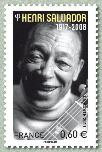 Zoom sur le timbre «Henri Salvador 1917-2008 Artistes de la chanson»