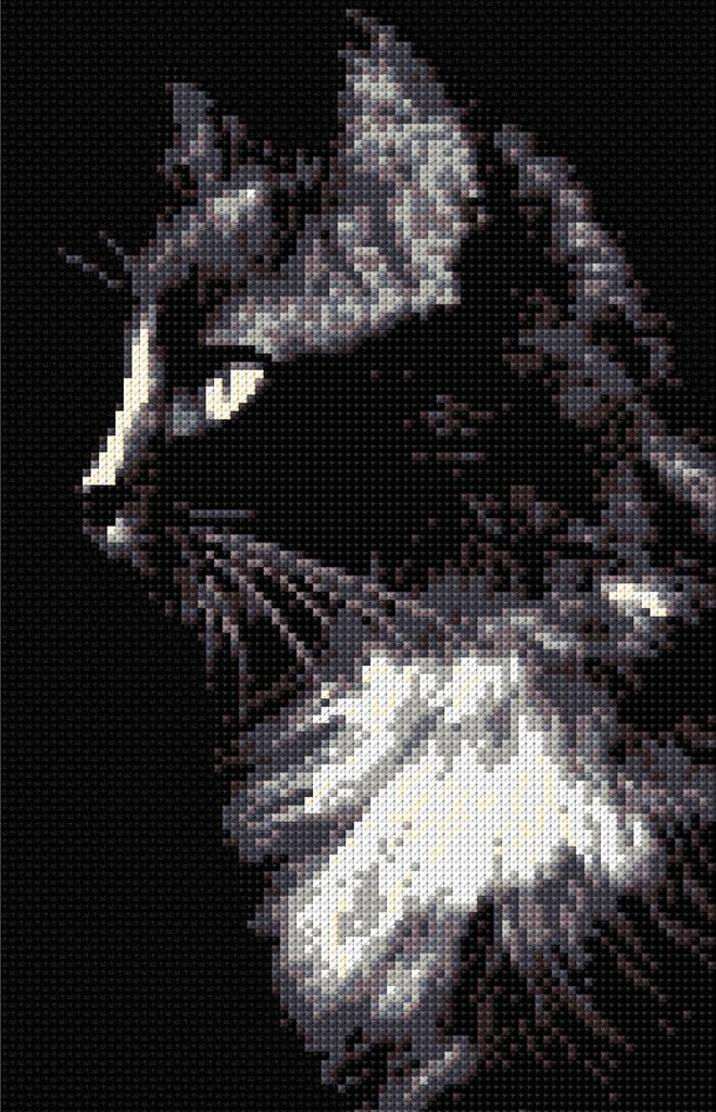 Black Cat Counted Cross Stitch Kit