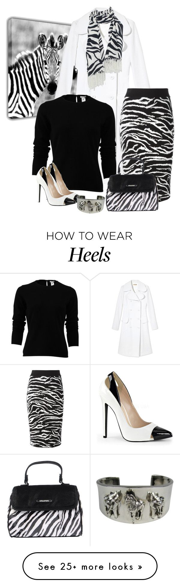 """Zebra Print"" by lorrainekeenan on Polyvore featuring Michael Kors, Oscar de la Renta, FAUSTO PUGLISI and Lollipops"