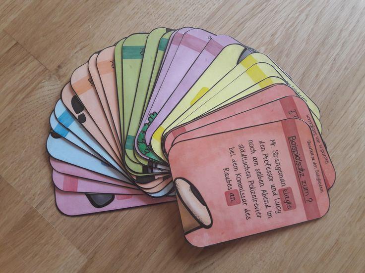 28 Spielkarten zu den Satzgliedern: www.materialtanten.de