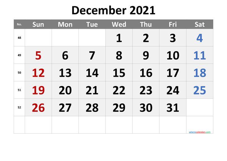 Printable Calendar December 2021 Free Premium Printable Calendar Template 2021 Calendar Calendar Printables