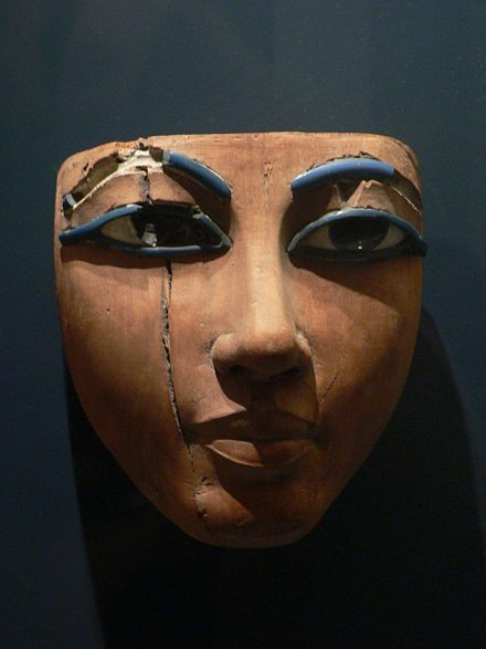 Egyptian death mask from the 18th dynasty | Louvre, Paris