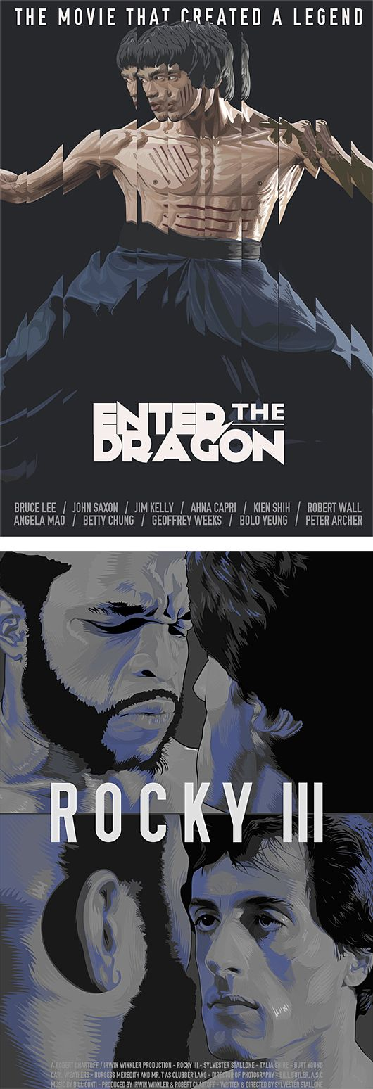 Enter the Dragon and Rocky 3 by Matt Edwards