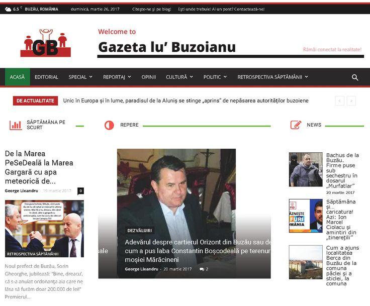 ultimele știri, anchete, editoriale și opinii, reportaje, dezvăluiri din și despre lumea românească, lumea locală buzoiană și diaspora, cultură și politică