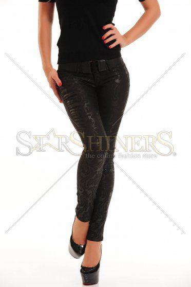 Pantaloni MissQ Delicate Print Black