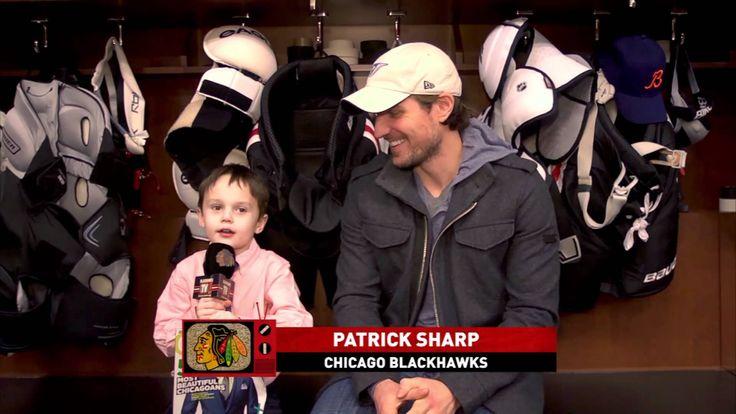 Joey the Junior Reporter talks to the Blackhawks and the Beautiful Patrick Sharp