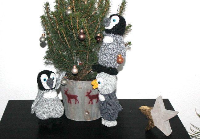 Pinguine Pitsch, Plitsch und Platsch Häkelanleitung