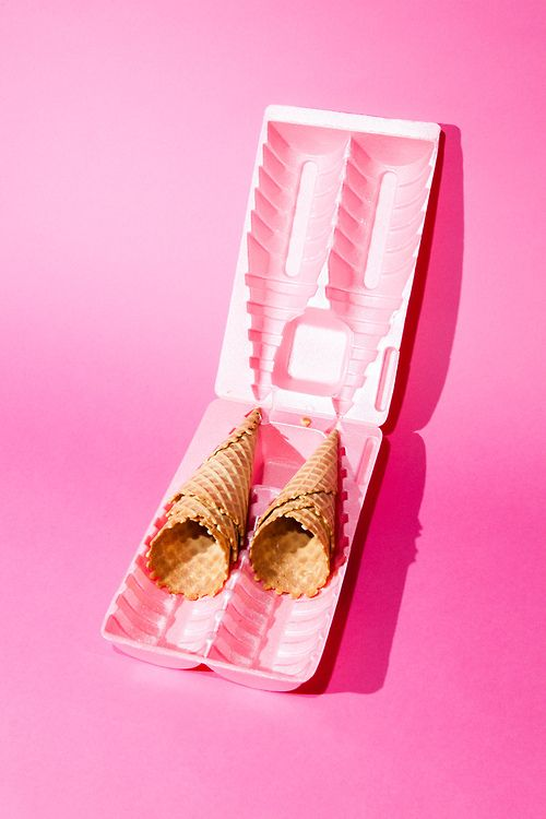 color | pink ice cream cone carton http://www.bijouxmrm.com/