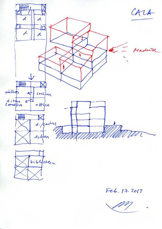 Residência Raumplan,Croqui 2