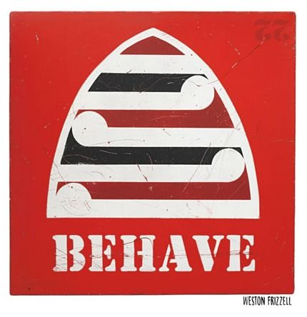 Check out Red Behave Print by Weston Frizzell at New Zealand Fine Prints