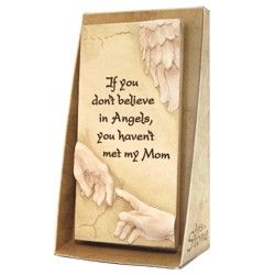 Een bijzonder mooie decoratieve tegel met symbolische tekst voor een engel van een moeder, handbeschilderd. 8,5 x 15,5 cm