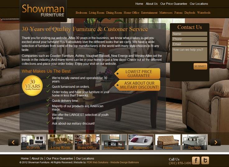 Showman Furniture   Furniture Company In Maryland #webdesign #portfolio  #furniturestore