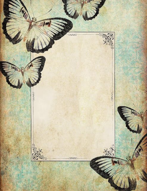 Whimsical blue butterfly stationery ~ free printable