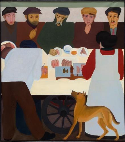 'Arbeiders rond voedselkar' (1925)
