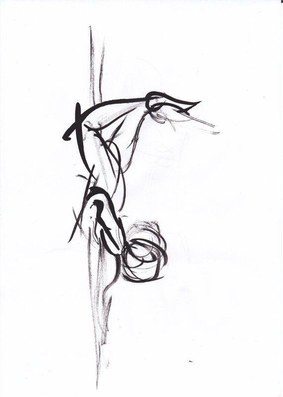 Sketch of a Dancer